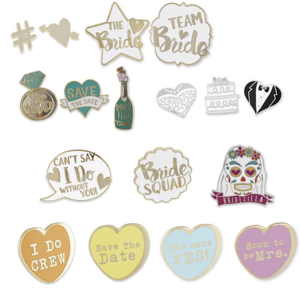 WIZARDPINS Full Wedding Pin Set Hard Enamel Lapel Pin– 17 Pins