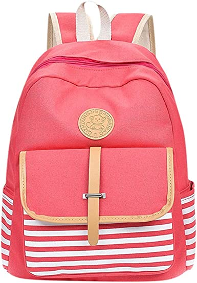 NEW NAUTICAL STRIPE RETRO RUCKSACK BACKPACK SCHOOL COLLEGE SHOULDER BAG