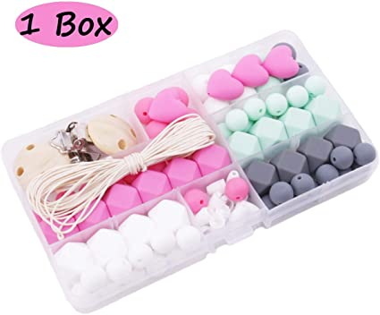 Silicone Ice Cream Beads Baby Teether DIY Necklace Jewelry Toy Accessories