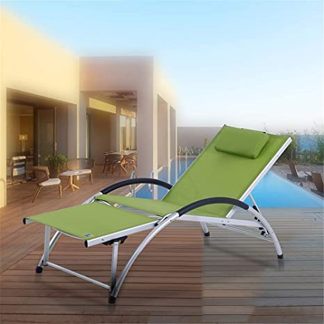 LANGYINH Sillas Plegables Sillones reclinables Patio Chaise ...