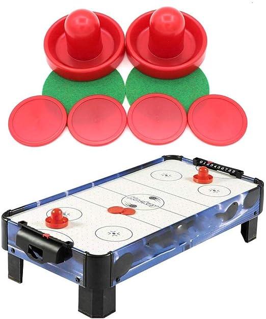 Hockey De Mesa,Air Hockey Reemplazo Pucks Y Juego De Empujador Air Hockey,Accesorios De Mesa De Hockey De Aire De Plástico, Juego De Cúpula De 96 Mm: Amazon.es: Hogar
