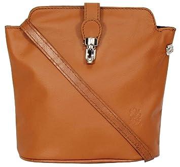 ff1f14c06a9b Handbag Bliss Italian Leather Crossover Cross Body Shoulder Bag Handbag in  Smooth Soft Ostrich Finish (
