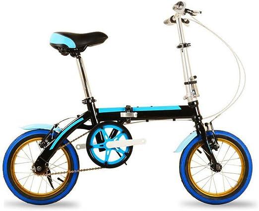 Bicicleta De Color Plegable De 14 Pulgadas Con Bicicleta De ...