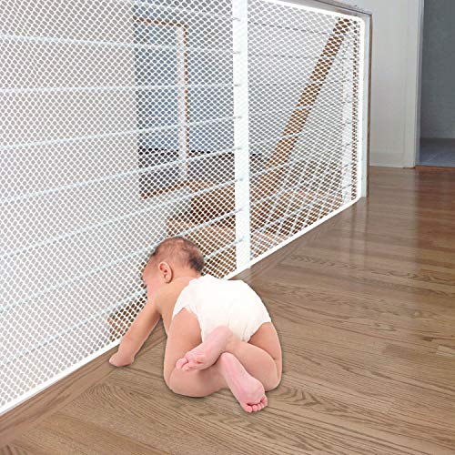 Banister Guard | Baby Safety Net | Child Proofing Balcony Banister Guard | Baby Proof Stair Guards Mesh | Indoor 10ft x…