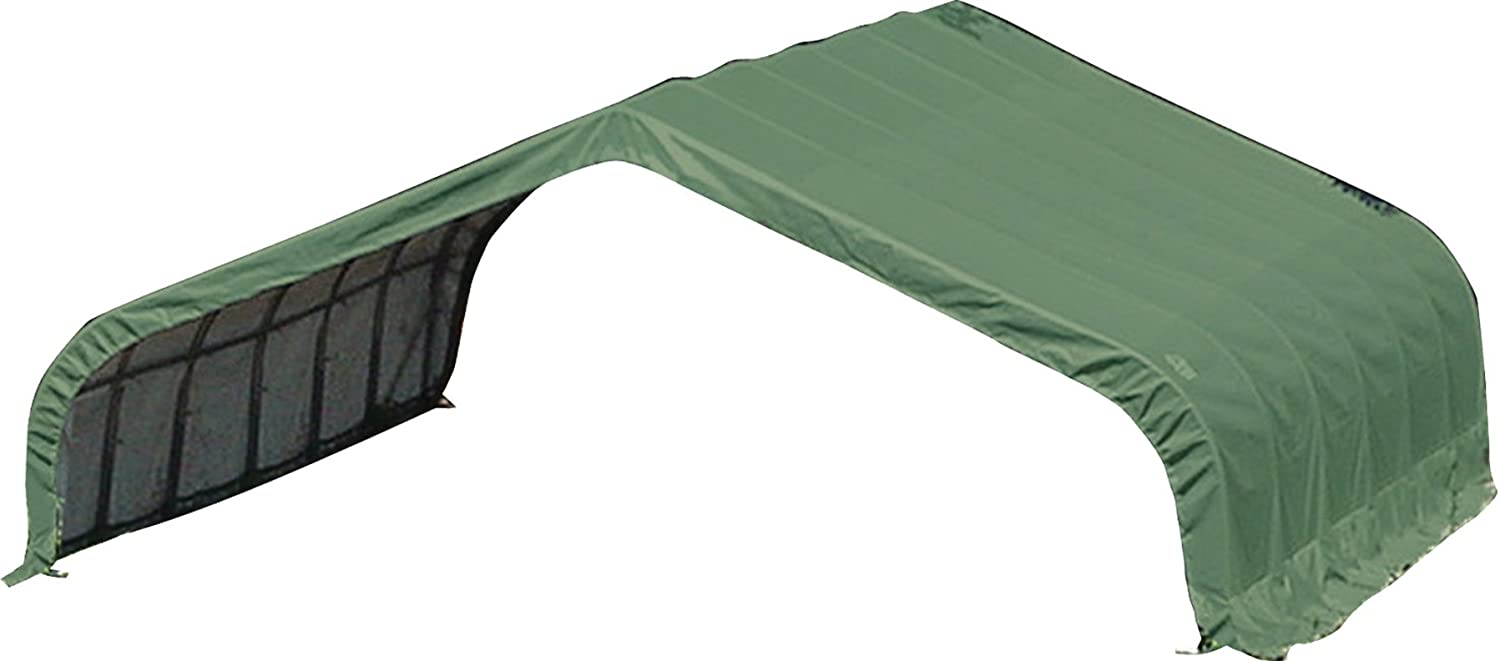 B002EOX0X4 ShelterLogic Round Style Run-In Shelter, Green 61YCM6Gkv5L