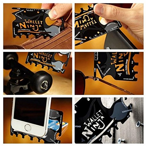 Read About UNKE Survival Card Stainless Steel Outdoor Multi Tools Military Pocket Credit Card Surviv...