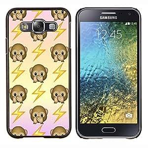 YiPhone /// Prima de resorte delgada de la cubierta del caso de Shell Armor - mono volver patrón sacudida eléctrica - Samsung Galaxy E5 E500