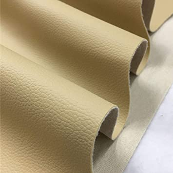 87c0af9ed9b4 Khaki Synthetic Faux Leather Fabric Vinyl Craft Bag Upholstery Material Yard  Sheet (2 Yard (