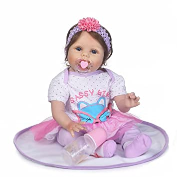 Seedollia Cute Real Looking Reborn Baby Dolls Girls Eyes Open Weighted Cloth Body For Children 22
