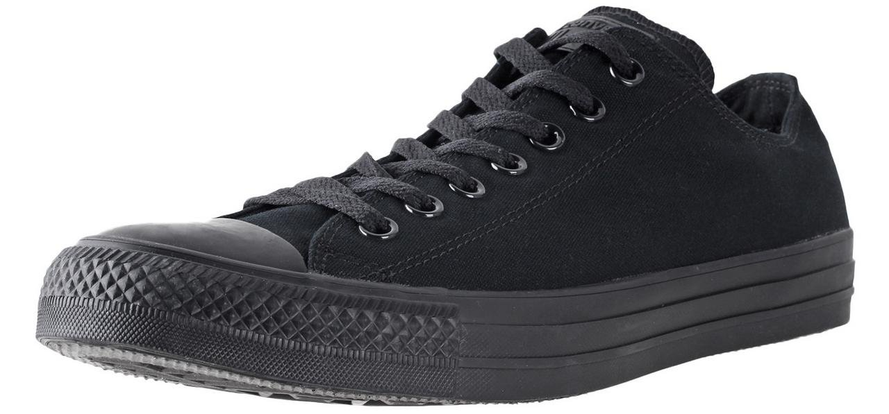 Converse Unisex Chuck Taylor All Star Low Top Black Monochrome Sneakers - 9.5 B(M) US Women / 7.5 D(M) US Men