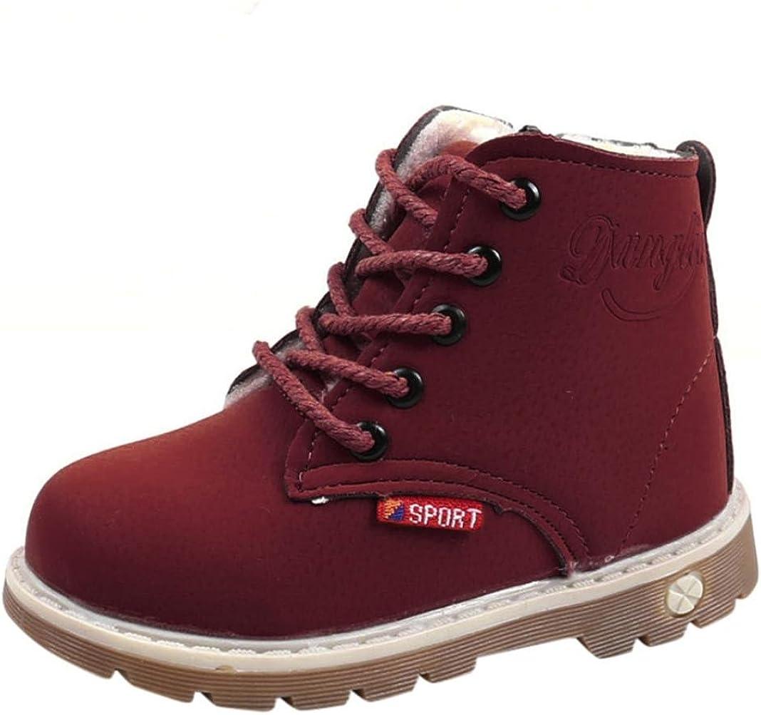 Tefamore Bambini Caldo Ragazzi Stivali Martin Sneaker Bambini Casual Scarpe