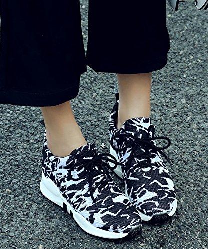 Club Tennis Confort Lacets Chaussures Bout Femme Aisun pour Rond Baskets F8q6w6