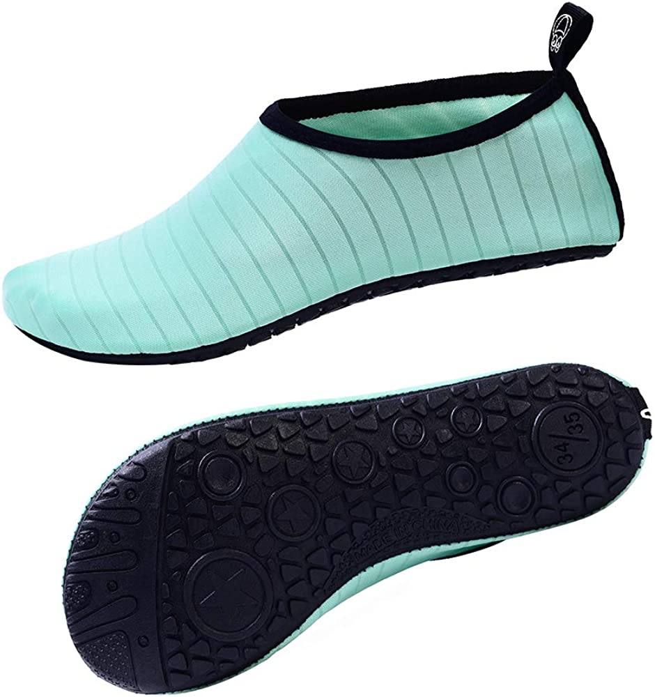 FEREMO Water Shoes for Women Men Kids Quick-Dry Aqua Sports Socks for Outdoor Beach Swim Surf Dive Yoga Exercise