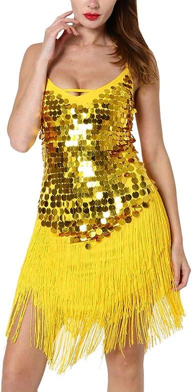 STRIR Vestido Latino Mujer para Danza Clásica Salsa Tango con ...