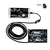 USB Endoscope Borescope Inspection Snake Camera 7mm OTG Micro USB Endoscope with 6 Adjustable LEDs Waterproof Inspection Camera for Android