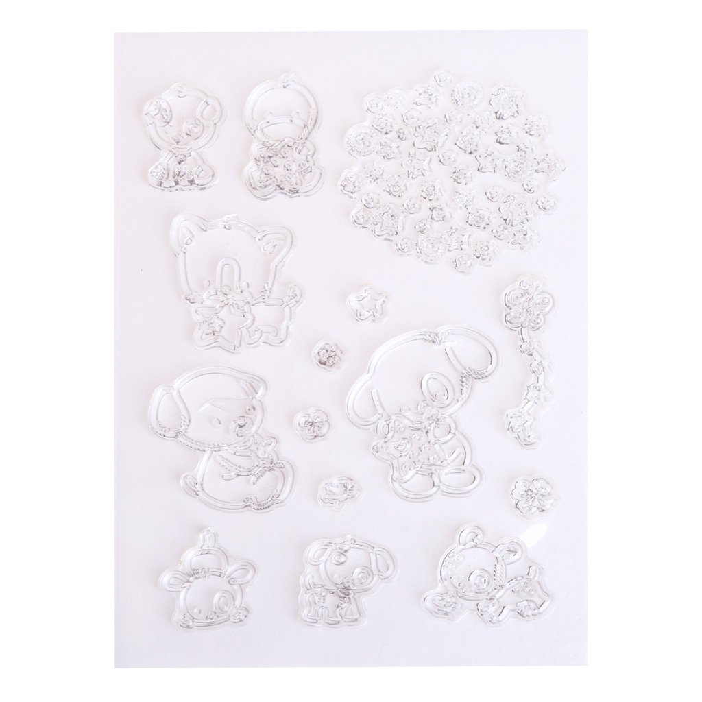 SELFON Animals Transparent Clear Silicone Stamp DIY Card Making Scrapbooking Photo Album Decoration