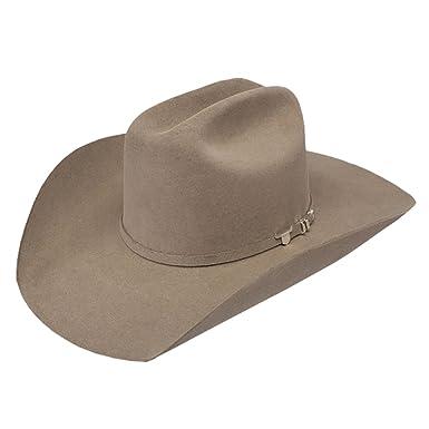 Resistol Mens 6X USTRC Stone 4 1 4 Brim Pre Creased Felt Cowboy Hat ... 4a79af50b9f
