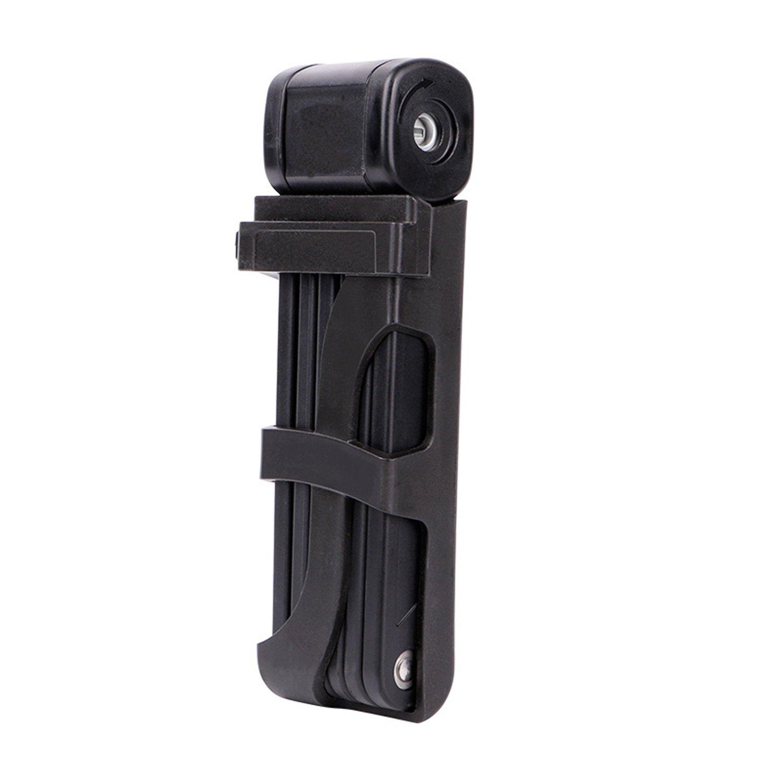 KOMOREBI Cerradura de cadena plegable para bicicleta con soporte de montaje resistente con llaves o código de seguridad 88 cm, 6 articulaciones compactas y flexibles, Lock with Code KOMOREBI Factory