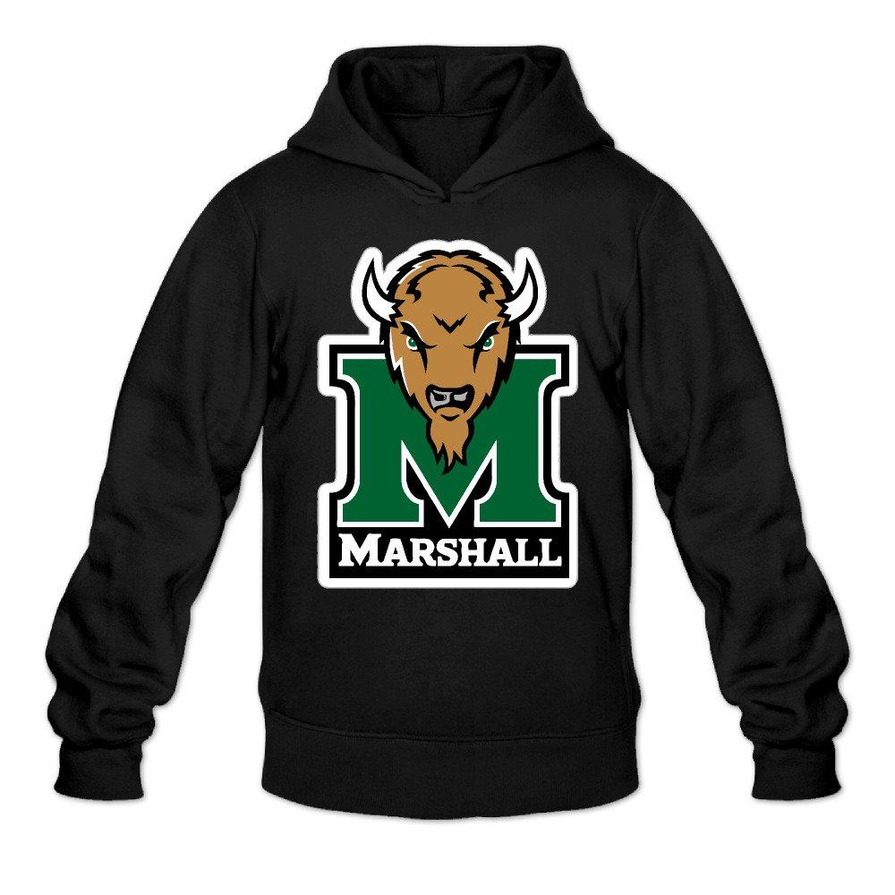 Rebecca Cool Marshall University Thundering Herd Mens Long Sleeve Hooded Sweatshirt Black