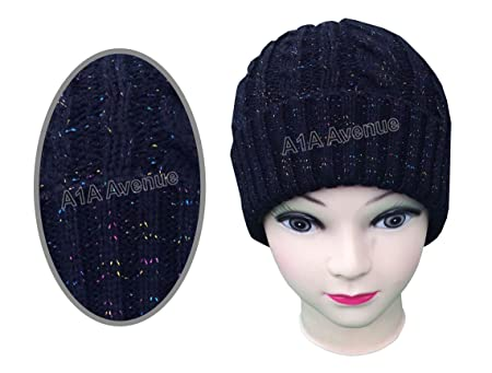 New Women s Ladies Glitter Woolly Knitted Beanie Hat Available ... 00eb99fcd015