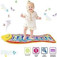 Tapete para piano, juguete con tapete para niños, tapete de baile para niños de 3 a 36 meses de regalo para bebés y…
