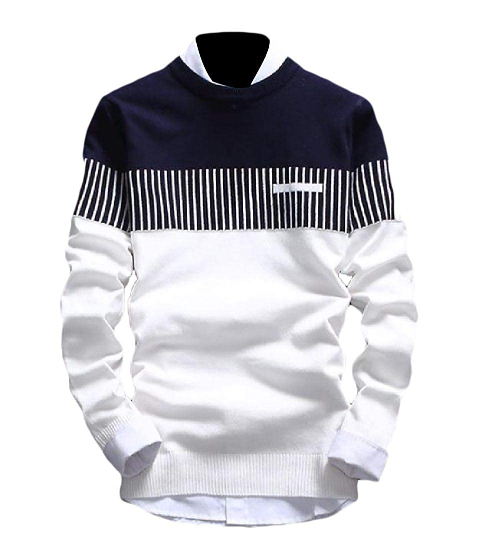 Andopa Mens Knit Crewneck Long Sleeve Fall Winter Casual Pullover Sweater