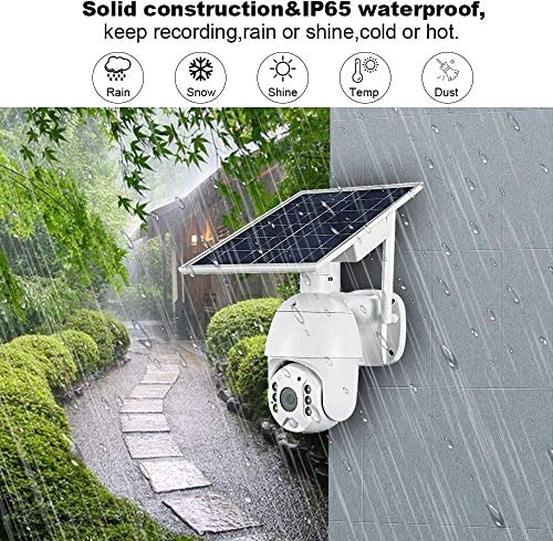 Outdoor Camera Wireless, FUVISION Solar Powered Battery PTZ IP Security Camera with 1080P Video Motion Detection,Indoor/Outdoor,Night Vision,Spotlight,2-Way Audio,Could Storage for Home Security