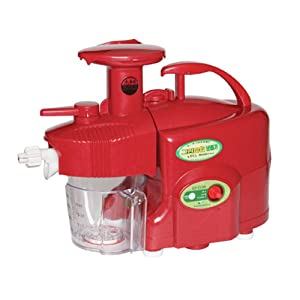GREEN POWER KEMPO [KP-E1304] Nomadics Standard/Premium Twin Gear Slow Juicer Green Fruit Extractor Double Gear (Red) US Transformed Voltage + PDF English Manual for how to assemble this device