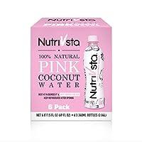 NutriVsta Pink Coconut Water_(340ml) 6 Pack, Exclusive and Premium Coconut Water...