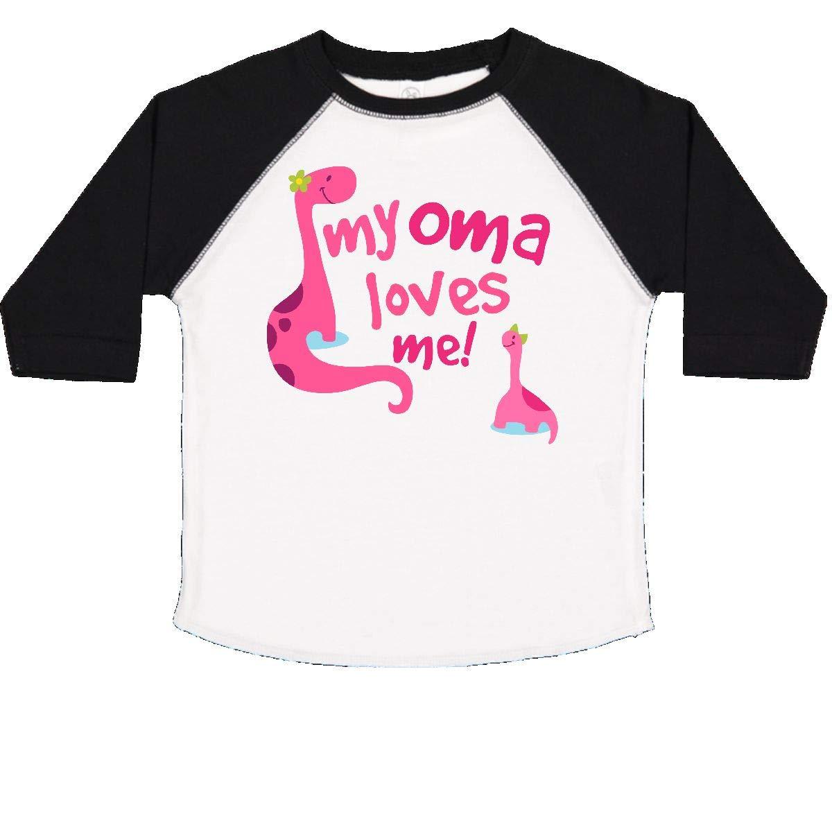 inktastic My Oma Loves Me Dinosaur Toddler T-Shirt