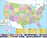 World's Best US Map - Laminated (36'' W x 29.1'' H)