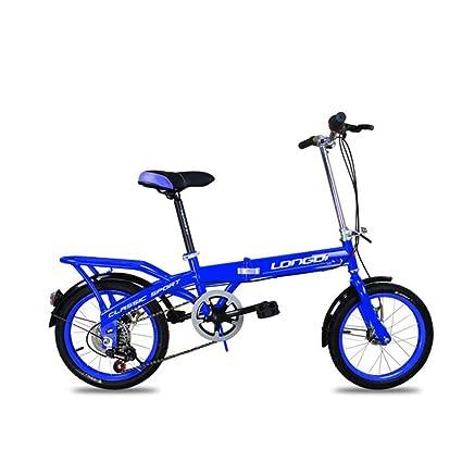 XQ Bicicleta Plegable para Niños 16 Pulgadas Adulto Velocidad 6-Variable Mojadura Hombres Y Mujeres