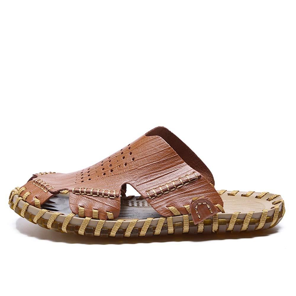 Herren Herren Herren Sandalen Casual Komfortable Hollow Soft nti-Collision Toe Strandschuhe,Grille Schuhe (Farbe   Braun, Größe   39 EU)  a0d7c7