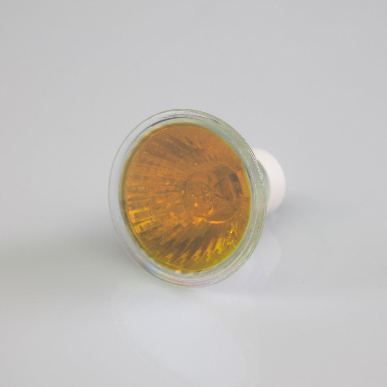 Deckenlampe 230V / 50W / Sockel GU-10 / rot - farbiges Ersatz-Leuchtmittel fü r Deckenleuchten - showking 11212