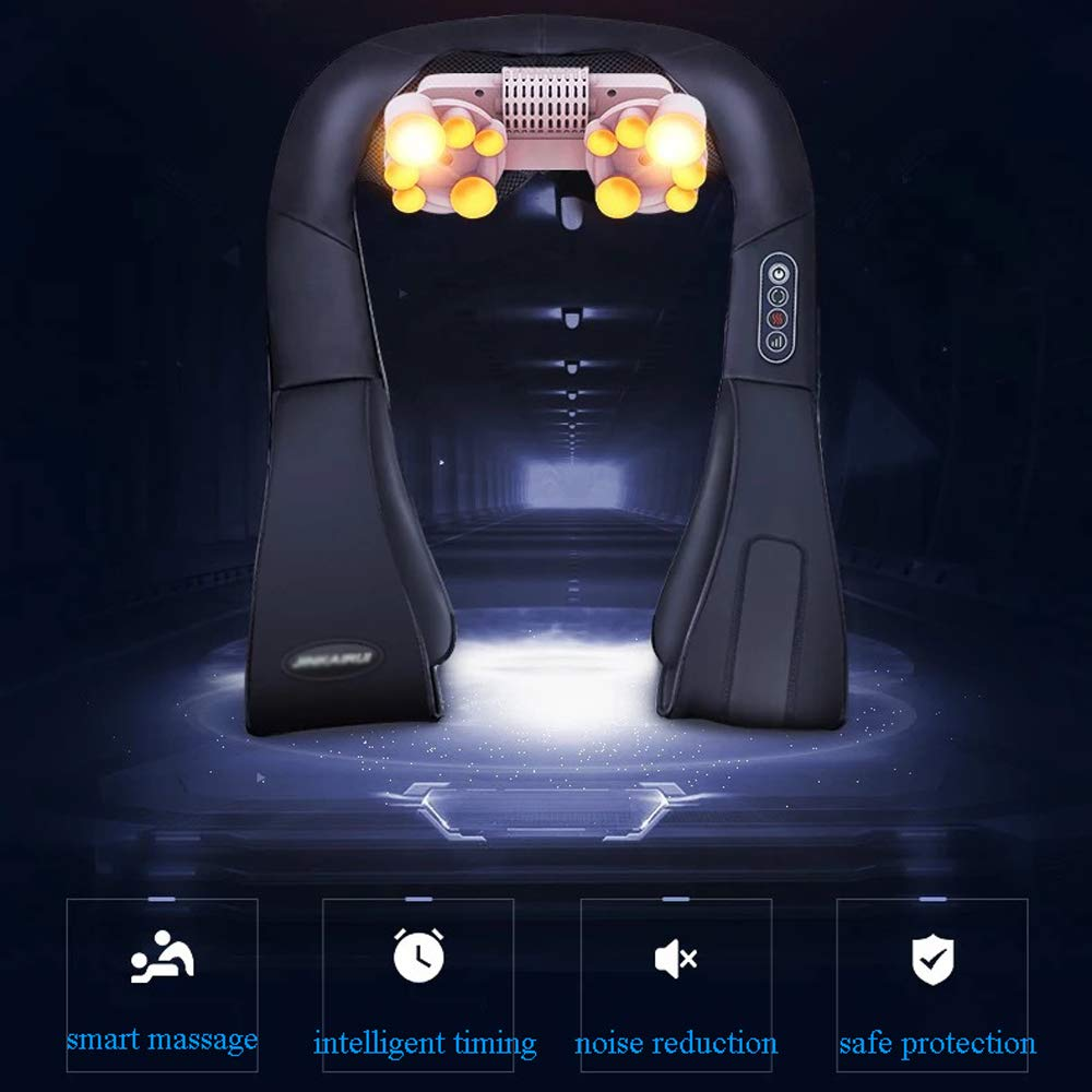 GAOQQ Shiatsu Back Neck and Shoulder Massager with Heat - Cervical Spine Kneading Multi-Function Massager for Office Home Car Use by GAOQQ (Image #4)