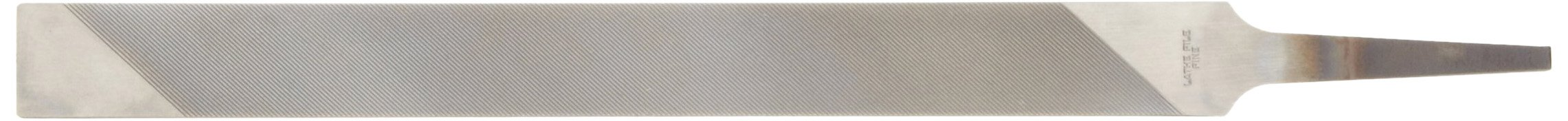 Nicholson Long Angle Lathe Hand File, American Pattern, Single Cut, Rectangular, Coarse, 12'' Length