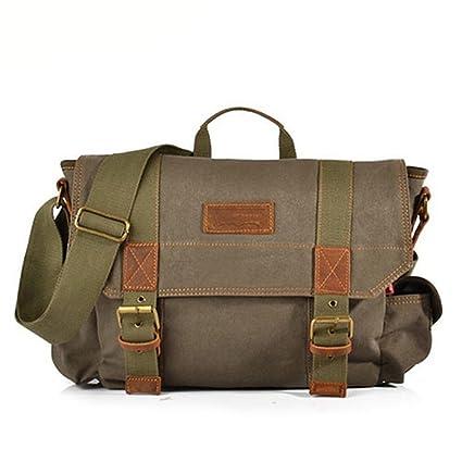 f9e5ad5d4a MCNFJD Shoulder Bags For Men 15 Inch Canvas School Laptop Bag Men s Vintage  Soft Satchel Male