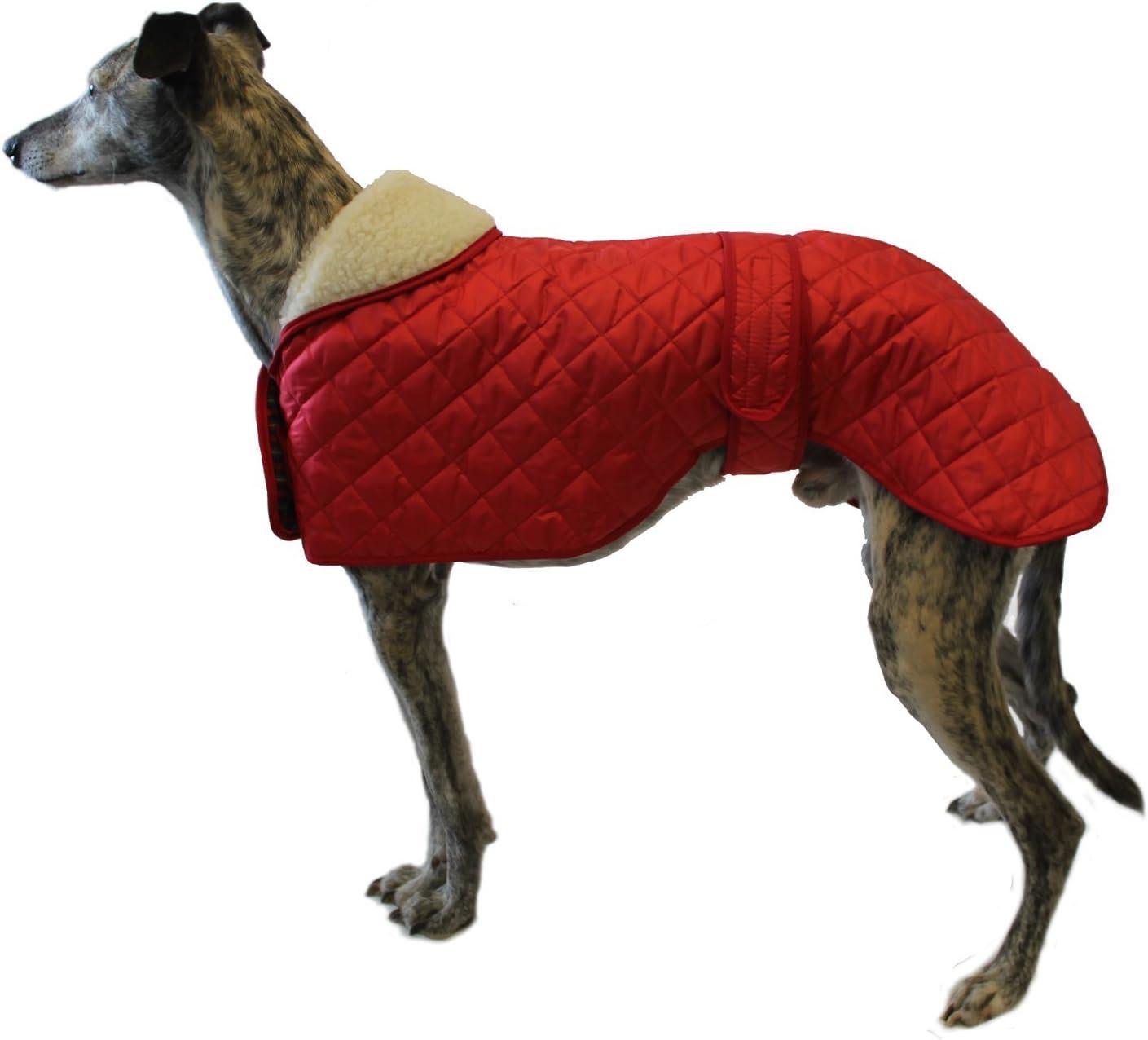 Cosipet Greyhound Anorak Nylon Coat, 56 cm, Red