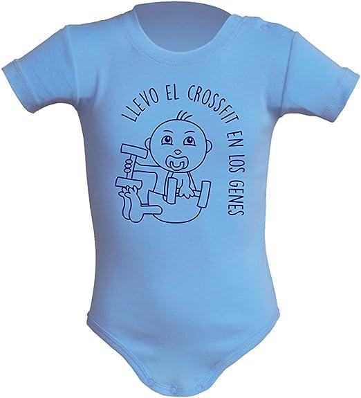 Body bebé unisex Llevo el crossfit en los genes. Regalo original. Body bebé divertido. Bebé deportista. Manga corta: Amazon.es: Ropa y accesorios