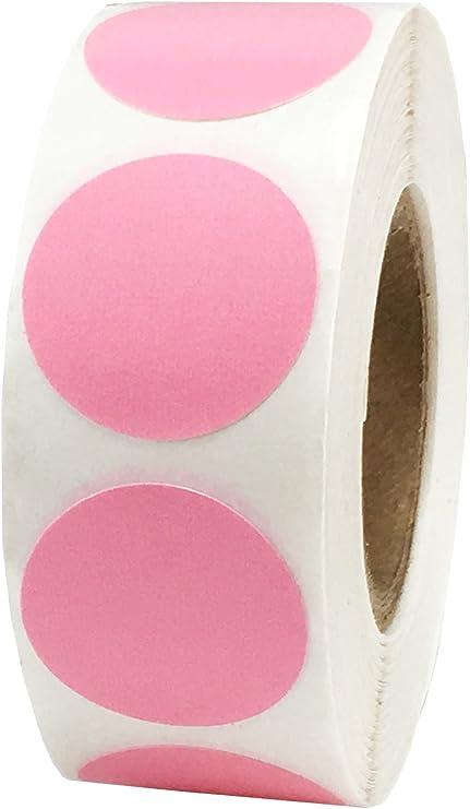 25 mm 1 Pouce de Large Rose Brillant /Étoile Autocollants 500 /Étiquettes sur un Rouleau