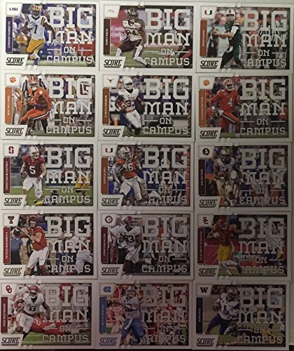 2017 Panini Score Football Big Man On Campus 2017 Rookie Insert Set 15 Cards Mitchell Tribisky Deshaun Watson Dalvin Cook Leonard Fournette Rookie Card