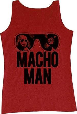 c0a95972d4731 Amazon.com  WWE World Wrestling Entertainment Old School Macho Man Glasses  Adult Tank Top Shirt  Clothing