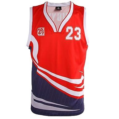 1c4f04786 DJY Customization Basketball Jerseys Moisture Wicking Basketball Training  Competition Sweatshirt Red Blue ...