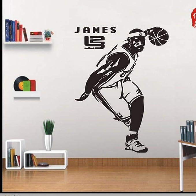 jiuyaomai Baloncesto Estrella Etiqueta de la Pared Poster Sticker ...