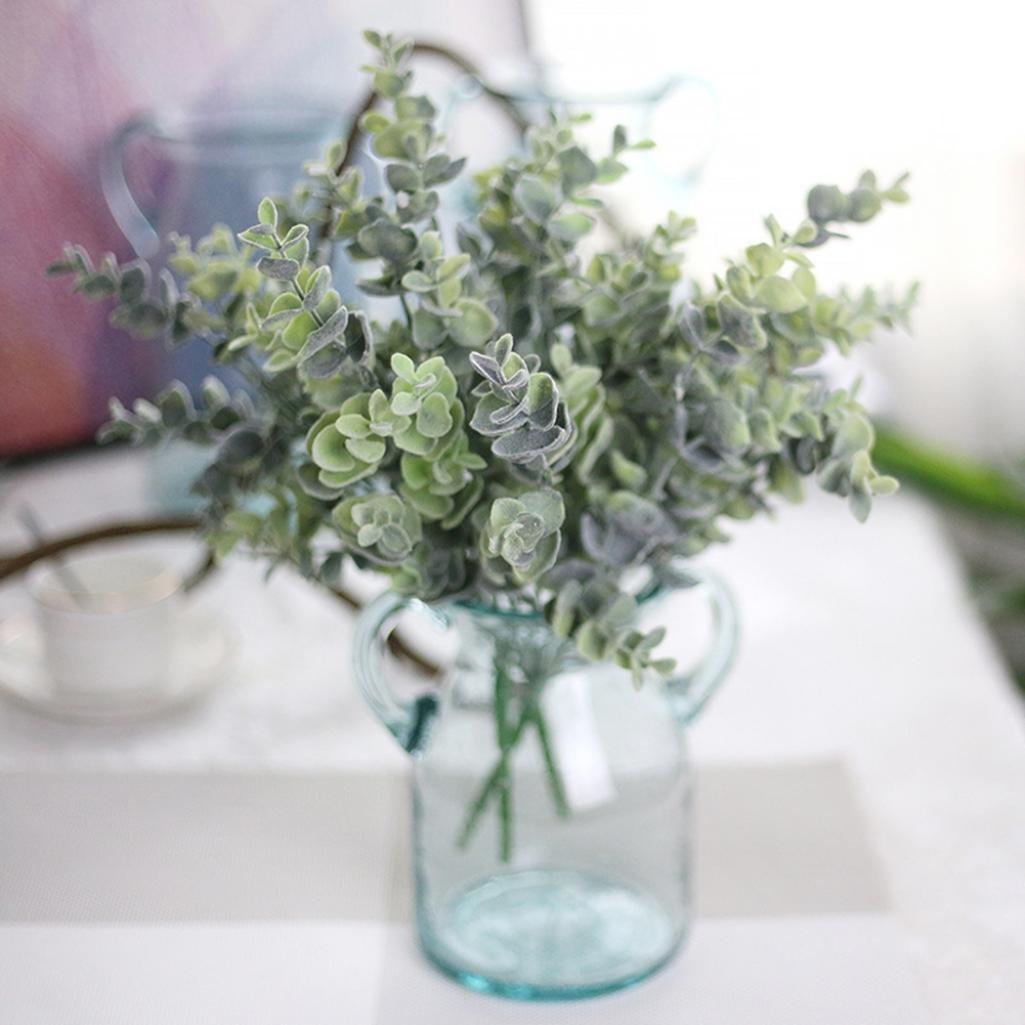 Artificial Fake Plastic Eucalyptus Plant Flowers Home Garden Wedding Party Decor Ameesi