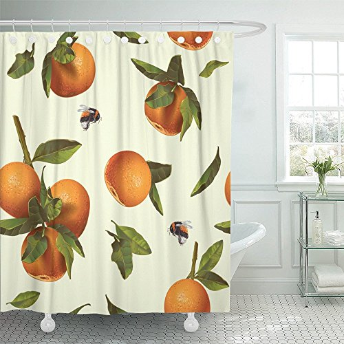 Emvency Shower Curtain Waterproof Decorative Bathroom 66 x 7