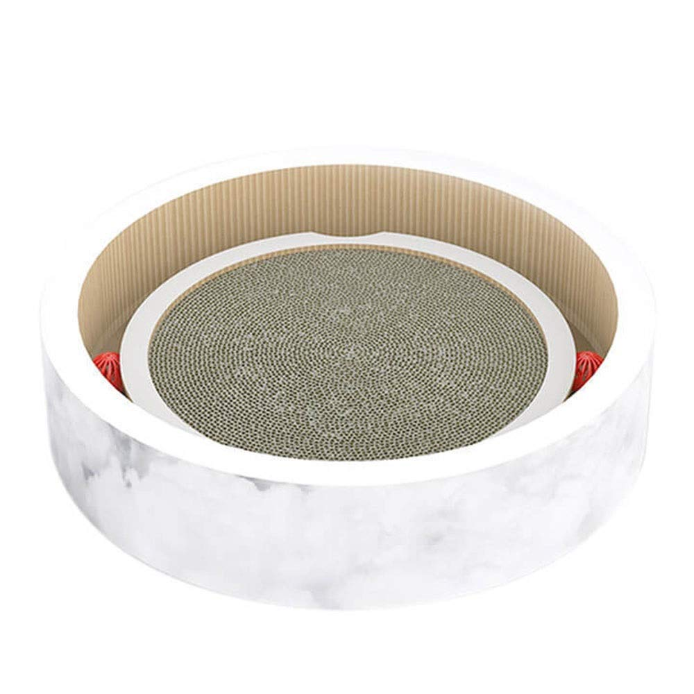 WEAO Yo-Yo Big Corrugated Paper Bowl-Shaped Cat Scratch Board Cat Toys Cat Nest Grinding Claw Playing Sleeping Three-in-one Double-Sided Corrugated Design Cat Supplies