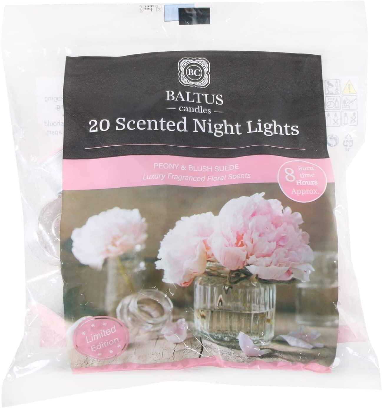 Making it a Beautiful Gift Pack and a Decorative Accessory with Long Lasting Burning Wax Having Multiple Refreshing Scents 8 Hours Burning Tealights and Scented Candles Pack Peony /& Blush Suede
