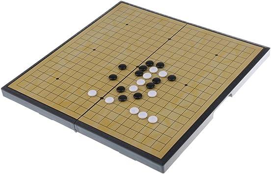 Baoblaze Go Weiqi Igo Conjunto de Tablero Plegable y Pieza Magnética Accesorios para Juegos de Mesa - Tamaño Abierto 28x28cm: Amazon.es: Juguetes y juegos