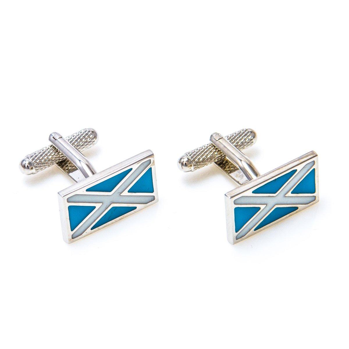 MRCUFF Scotland Flag Pair Cufflinks with a Presentation Gift Box /& Polishing Cloth